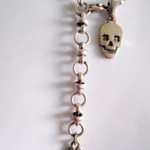 Lucky Brand Jewelry - LUCKY CLOVER SKULL Charm SILVER Choker Necklace